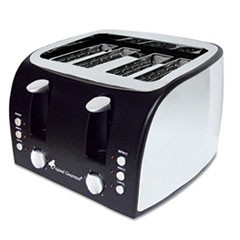 4-Slice Multi-Function Toaster with Adjustable Slot Width, Black/Stainless Steel