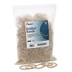 "7510015783513 SKILCRAFT Rubber Bands, Size 33, 0.03"" Gauge, Beige, 1 lb Box, 850/Pack"