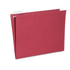7530013649500, Hanging File Folder, Letter Size, 1/5 Cut Top Tabs, Red, 25/Box