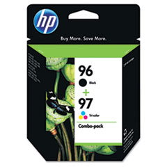 HP 96, (C9353FN) Black / HP 97, Tri-Color 2-pack Original Ink Cartridges