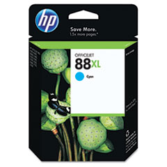 HP 88XL, (C9391AN) High Yield Cyan Original Ink Cartridge