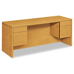 10500 Series Kneespace Credenza With 3/4-Height Pedestals, 72w x 24d, Harvest
