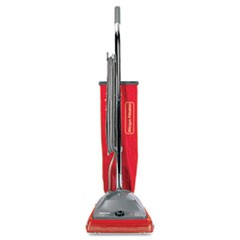 TRADITION Upright Bagged Vacuum, 5 Amp, 19.8 lb, Red/Gray