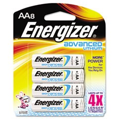 Advanced Lithium Batteries, AA, 8/Pack