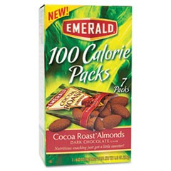 100 Calorie Pack Cocoa Roast Almonds, 0.63 oz Packs, 7/Box
