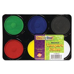 Creativity Street Tempera Cakes, 6 Assorted Colors
