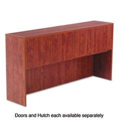 Valencia Series Hutch Doors, Laminate, 17w x 3/4d x 15h, Medium Cherry, 4/Set