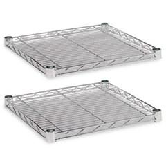 Industrial Wire Shelving Extra Wire Shelves, 18w x 18d, Silver, 2 Shelves/Carton