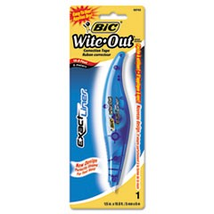 "Wite-Out Brand Exact Liner Correction Tape, Non-Refillable, Blue, 1/5"" x 236"""