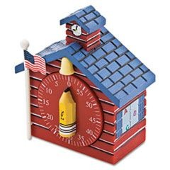 Shaped Timer, 3/4 x 2 x 3 1/2, Red School House