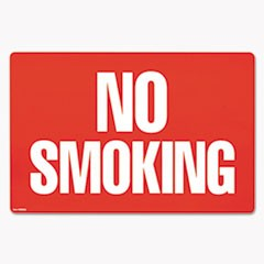 Two-Sided Signs, No Smoking/No Fumar, 8 x 12, Red