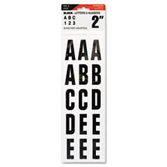 "Letters, Numbers & Symbols, Adhesive, 2"", Black, 84 Characters"