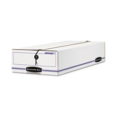 LIBERTY Check/Voucher Storage Box, 10-3/4 x 23-1/4 x 4-5/8, White/Blue, 12/CT.