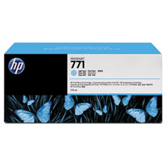 HP 771, (B6Y44A) 3-pack Light Cyan Original Ink Cartridges
