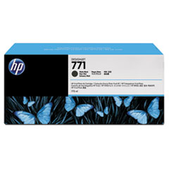 HP 771, (B6Y39A) 3-pack Matte Black Original Ink Cartridges
