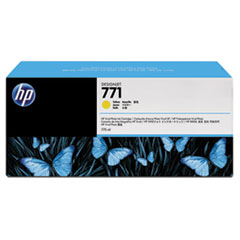 HP 771, (B6Y42A) 3-pack Yellow Original Ink Cartridges