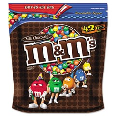 Milk Chocolate w/Candy Coating, 42oz Pack