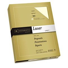 25% Cotton Premium Laser Paper,Ivory,  32 lbs, Smooth, 8-1/2 x 11, 300/Pack