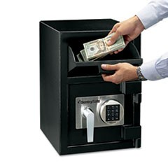 Depository Safe, 0.94 ft3, 14w x 15 3/5d x 20h, Black