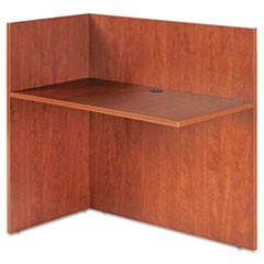 Alera Valencia Reversible Reception Return, 44 1/8w x 23 5/8d x 41 1/2h, Medium Cherry