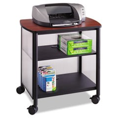 Impromptu Machine Stand, One-Shelf, 26-1/4w x 21d x 26-1/2h, Black/Cherry