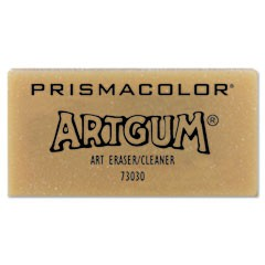1ARTGUM Eraser, Rectangular, Large, Off White, Kneaded Rubber, Dozen