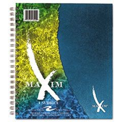 Maxim Notebook, College Rule, 11 x 9, 1 Subject, 90 Sheets, Assorted
