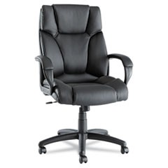 Alera Fraze Series High-Back Swivel/Tilt Chair, Black Leather