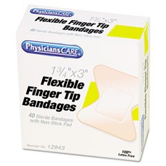 First Aid Fingertip Bandages, 40/Box