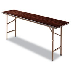 Wood Folding Table, Rectangular, 72w x 18d x 29h, Mahogany