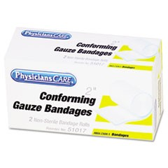 "1First Aid Conforming Gauze Bandage, 2"" wide, 2 Rolls/Box"