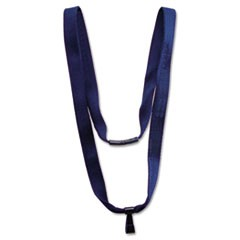 "Earth-Friendly Lanyard, J-Hook Style, 36"" Long, Blue, 10/Pack"