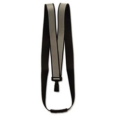 "Recycled Breakaway Lanyard, J-Hook Style, 36"" Long, Black, 10/Box"