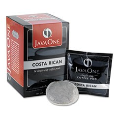 Coffee Pods, Estate Costa Rican Blend, Single Cup, 14/Box