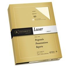 25% Cotton Premium Laser Paper, White 97, 32 lb., Smooth, 8-1/2 x 11,  300/Pack