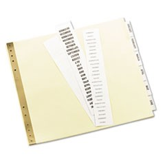 Insertable Clear Tab Dividers for Data Binders, 6-Tab, 11 x 9 1/2