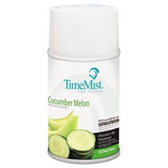 Premium Metered Air Freshener Refill, Cucumber Melon, 5.3 oz Aerosol, 12/Carton