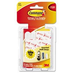 Assorted Refill Strips, White, 16/Pack