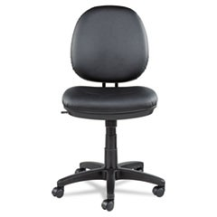 Alera Interval Series Swivel/Tilt Task Chair, Leather, Black