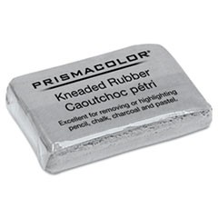 1Design Kneaded Rubber Art Eraser, Rectangular, Large, Gray