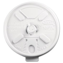 Lift N' Lock Plastic Hot Cup Lids, Fits 10oz Cups, White, 1000/Carton