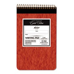 Gold Fibre Retro Writing Pad, College Rule, 5 x 8, Ivory, 80-Sheets
