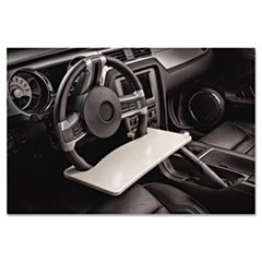 Automobile Steering Wheel Attachable Work Surface, Gray