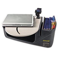 Car Desk with Laptop Mount, Supply Organizer, Gray