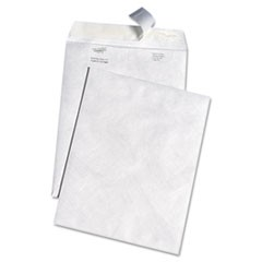 White Leather Envelopes of DuPont Tyvek, #10 1/2, Cheese Blade Flap, Self-Adhesive Closure, 9 x 12, White, 100/Box