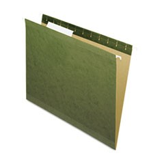 Hanging File Folders, 1/3 Tab, Letter, Standard Green, 25/Box