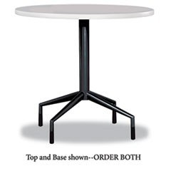 "RSVP Series Round Table Top, Laminate, 30"" Diameter, Gray"