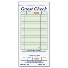 Guest Check Book, 3 3/8 x 6 1/2, Tear-Off at Bottom, 50/Book