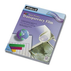 Color Laser-Device Transparency Film, Letter, Clear, 50/Box
