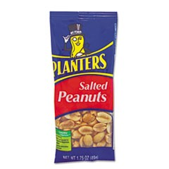 Salted Peanuts, 1.75oz, 12/Box